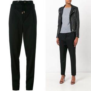 Saint Laurent High-Waisted Pants with Jogging Belt